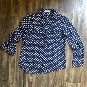 🎃2 FOR 22 -Express Blue Butterfly Portofino Shirt
